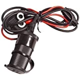 UltimateAddons 12v DC Motorcycle Waterproof Hard-Wire Socket Accessory with 1.5 Metre Loom
