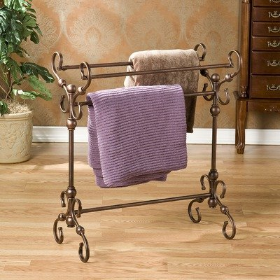 Lourdes Antique Blanket Rack