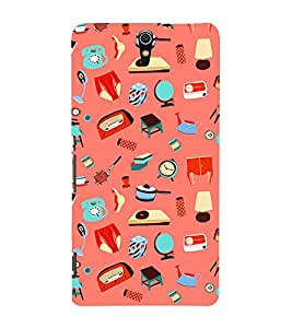 Fuson Premium Back Case Cover Crazy pattern With Pink Background Degined For Sony Xperia C5 Ultra Dual::Sony Xperia C5 E5553 E5506::Sony Xperia C5 Ultra