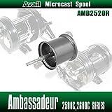 【Avail/アベイル】 【Abu/アブ】 Ambassadeur/アンバサダー用 NEW軽量浅溝スプール Avail Microcast Spool AMB2520R ガンメタ