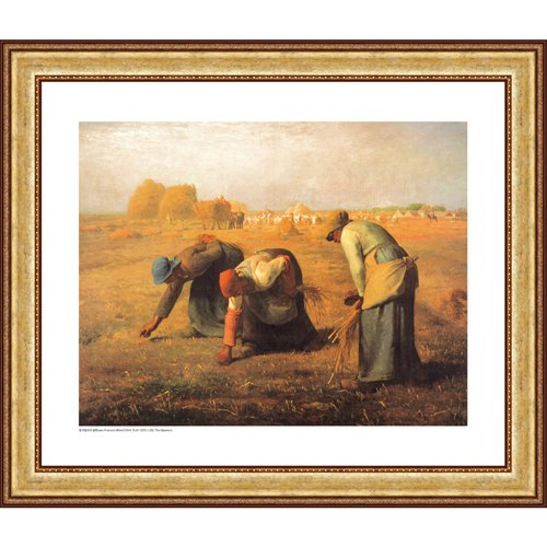 Easy Apply Wall Sticker Painting -The Gleaners, Jean Francois Millet