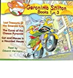 img - for [ Geronimo Stilton Books 1-3: #1: Lost Treasure of the Emerald Eye; #2: The Curse of the Cheese Pyramid; #3: Cat and Mouse in a Haunted House (Geronimo Stilton (Audio)) [ GERONIMO STILTON BOOKS 1-3: #1: LOST TREASURE OF THE EMERALD EYE; #2: THE CURSE OF THE CHEESE PYRAMID; #3: CAT AND MOUSE IN A HAUNTED HOUSE (GERONIMO STILTON (AUDIO)) ] By Stilton, Geronimo ( Author )Oct-12-2004 Compact Disc book / textbook / text book