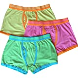 Boy's Cotton Rich Fashion Design Fitted Boxer Shorts (3 Pair Multi Pack)