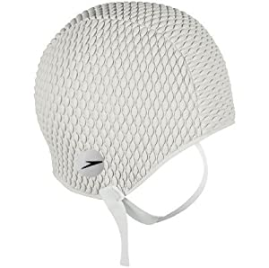 Amazon Com Retro Bubble Swim Cap With Chin Strap By