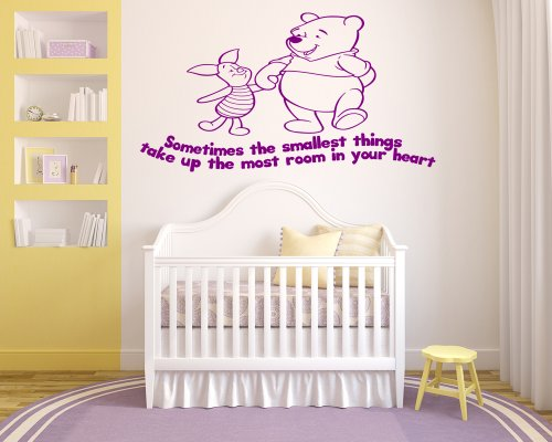 Winnie The Pooh Kids Nursery Wall Sticker Decal 9 (Other Colour)