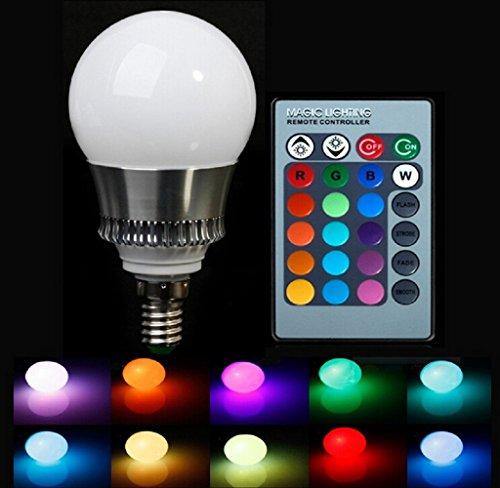 Gled Rgb 10W E14 Ac85-265V Led Bulb Lamp With Remote Control Multiple Colour Led Lighting