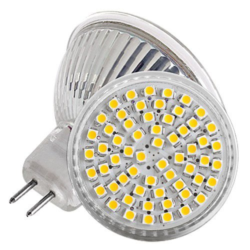 {Factory Direct Sale} (Pack Of 4) Mr16 Ac Dc 12V 60 3528 3W Led Warm Whtie Spot Light Lamp Cup Glass Shell Outdoor Lighting