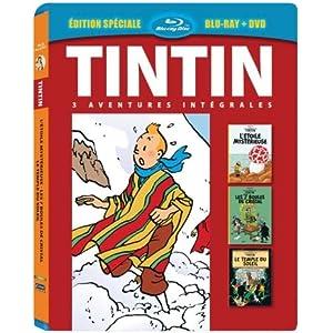 Tintin - 3 aventures - Vol. 4 : 7 boules de Cristal + Le Temple du soleil + L'Etoile