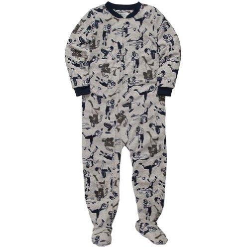 "Carter'S Big Boys ""Football"" Fleece Footed Blanket Sleeper Pajamas-Size 5 Kids front-161185"