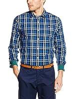 Napapijri Camisa Hombre (Azul)