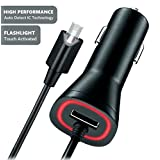 Huawei Y560 2.1A Vehicle Charger with Dual USB Output and Touch LED Flash-Light!