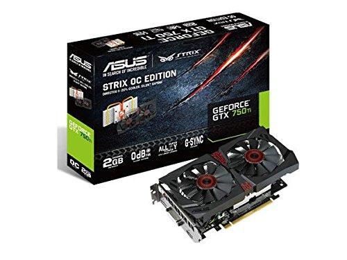ASUS STRIX GeForce GTX 750TI Overclocked 2 GB DDR5 128-bit DisplayPort HDMI 1.4a DVI-I Graphics Card (Asus Geforce 750 Ti compare prices)