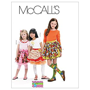McCall's Patterns M6066 Children's/Girls' Skirts, Leggings and Appliques