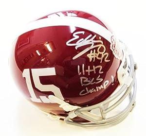 Eddie Lacy Autographed Mini Helmet - Alabama National Champs by Sports+Memorabilia