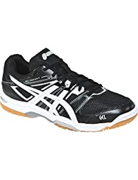 ASICS Volleyball Shoes Men's Gel-Rocket 7 - Black/White/Silver, 6.5