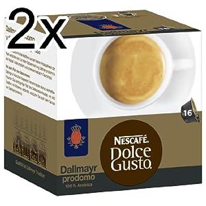 Find Nescafé Dolce Gusto Dallmayr prodomo, Pack of 2, 2 x 16 Capsules from Nestl