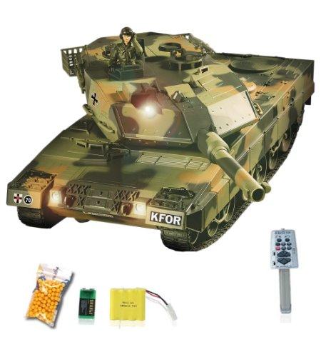 German-Leopard-2A5-Airsoft-KFOR-Edition-RC-ferngesteuerter-Panzer-mit-Airsoft-Schuss-Sound-und-Beleuchtung-Modell-im-Mastab-124-inkl-Akku-Ladegert-Fernsteuerung-und-Munition