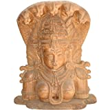 The Bust Image Of Devi: A Wood Carving - South Indian Temple Wood Carving
