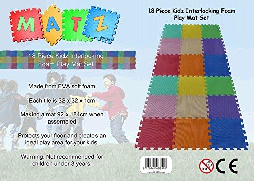 18 Stück Puzzleteppich Spielmatte für Kinder Set