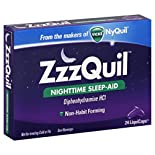 Vicks ZzzQuil Nighttime Sleep Aid, LiquiCaps, 24 liquicaps