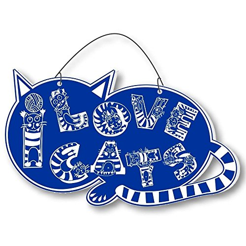 Cool Cats Crazy Alphabet-Cat Laser-Etched 3-In-1 Plaques Ver2 Cat Lady Blue front-438646