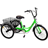 "Komodo Cycling 24"", 6-speed Adult Tricycle #7002 (85% Preassembled + 1 Year Warranty)"