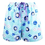 Leisureland Women's Flannel Pajama Sleepwear Lounge Boxer Shorts Space Monkey