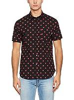 Love Moschino Camisa Hombre (Negro / Rojo)