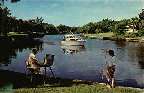 cottee-river-new-port-richey-florida-original-vintage-postcard