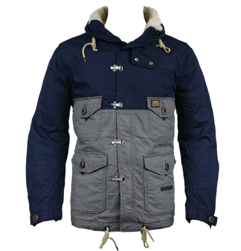 Duck and Cover 110080 Turner Mens Jacket AW12 Blue/Black XL