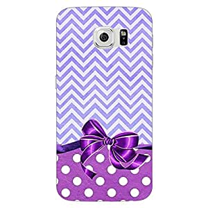 Jugaaduu Cute Bow Back Cover Case For Samsung S6