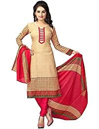 Little Lady Women Cotton Silk Salwar Suit(Free Size__Ladydm01)