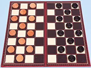 Draughts set with folding board - 00316