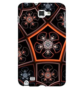 GADGET LOOKS PRINTED BACK COVER FOR SAMSUNG GALAXY NOTE 1 MULTICOLOUR