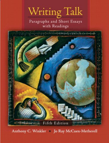 Writing Talk: Paragraphs and Short Essays with Readings (with MyWritingLab Student Access Code Card) (5th Edition)