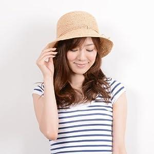 折り畳み ラフィアハット(帽子)/紐付き ANGELINA RFH-00101 ナチュラル