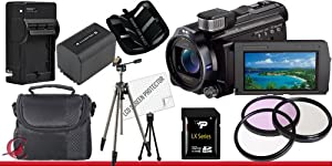 Sony 96GB HDR-PJ790 HD Handycam with Projector (Black) 32GB Package 4