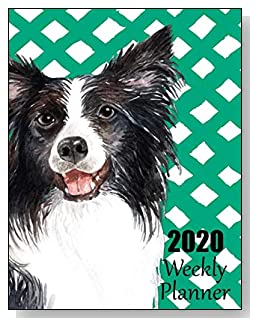 Border Collie 2020 Dated Weekly Planner - A fun canine-themed planner to help any dog lover stay organized and keep track of activities on a daily, weekly, and monthly basis from January to December 2020.