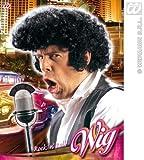 Black Elvis Wig With Big Quiff Rocker 60'S Teddy Boy Danny Grease Fancy Dress