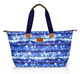 Victoria's Secret PINK Nylon Celestial Blue Galaxy School Book Handbag Travel Large Tote Bag~ Sold Out