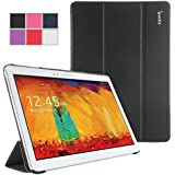 Samsung Galaxy Note 10.1 2014 Case - Poetic Samsung Galaxy Note 10.1 2014 Case [Slimline Series] - [Lightweight] [Ultra-slim] PU Leather Slim-Fit Trifold Cover Stand Folio Case for Samsung Galaxy Note 10.1 2014 Edition Tablet Black (3 Year Manufacturer Warranty From Poetic)