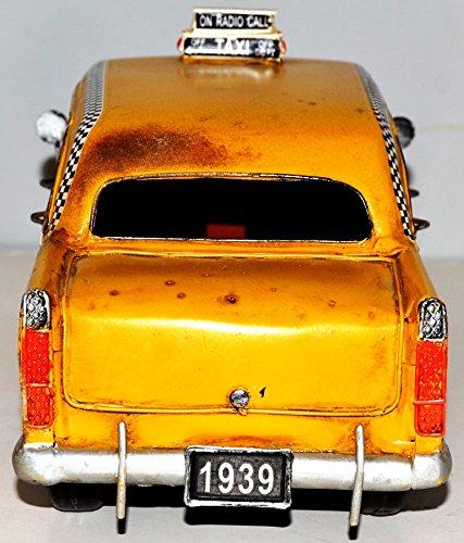 NY Yellow Taxi Car Vintage Metal Tin Model To Tin Model Vintage Car Taxi Car Plate 35 cm 37216