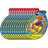 Ja-Ru Water Bomb with Filler 50 Count Party Favor  (12-Pack Bundle)