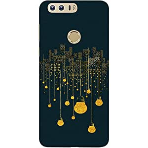 Casotec City Light Pattern Design 3D Printed Hard Back Case Cover for Huawei Honor 8