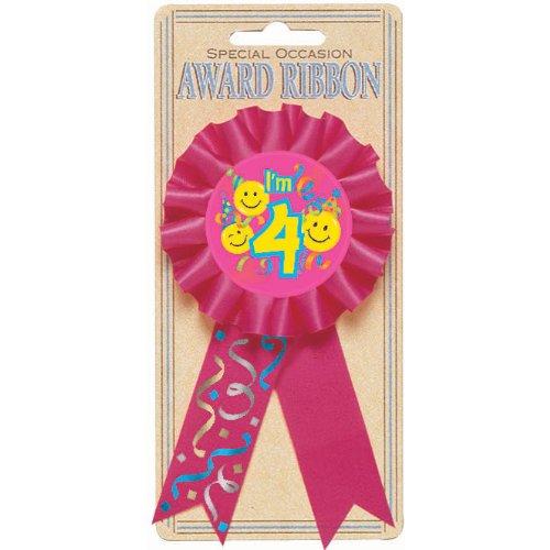 4th Birthday Smile Award Ribbon