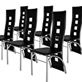 Miadomodo� EZSTL05-3Dining Chair 6-pc Set DIFFERENT COLOURS (Black)by Miadomodo�