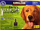 Kirkland Signature Water Resistant 6-Month Flea & Tick Control for Large Dogs,32-79 Lbs