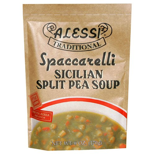 Alessi Split Pea Soup, 6-Ounce Packages (Pack of 6)