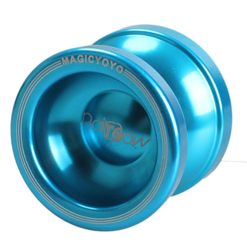 Vktech Yoyo Magic Yo-yo T6 Rainbow String Trick Aluminum (Blue) - 1