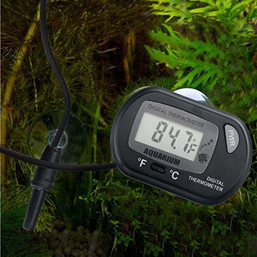 HDE LCD Digital Fish Tank Aquarium Thermometer Terrarium Marine Temperature (Black) (Salt Water Thermometer compare prices)